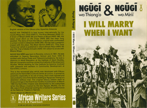 book cover artwork for Ngugi & Ngugi , I Will Marry When I Want.