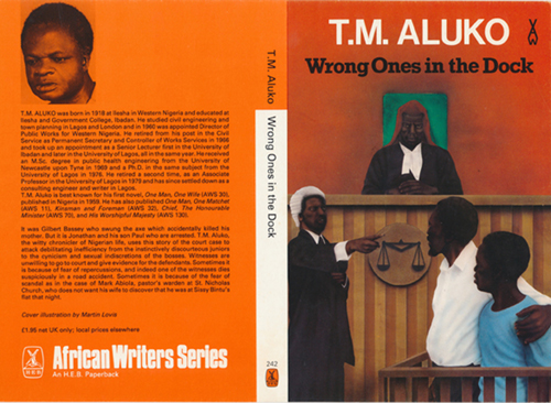 Book cover artwork for Wrong Ones In The Dock by T.M.Aluko